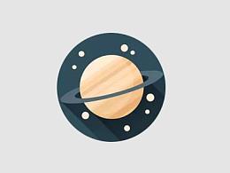 PPT教程(205):用PPT绘制一枚扁平行星图标
