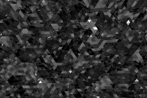 黑色碳晶多边形PPT背景图片