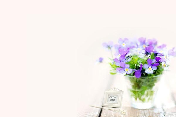 紫色花卉植物PPT背景图片