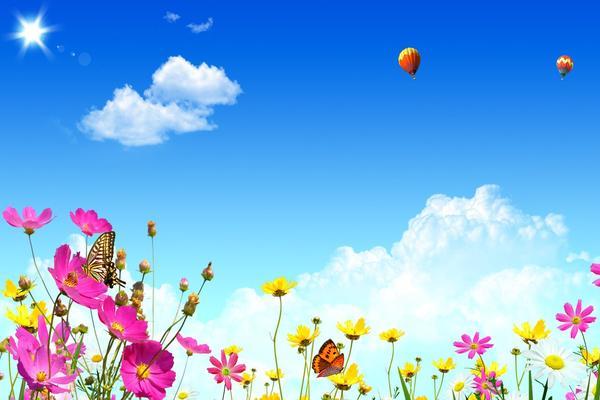 春意盎然的自然风光PPT背景图片