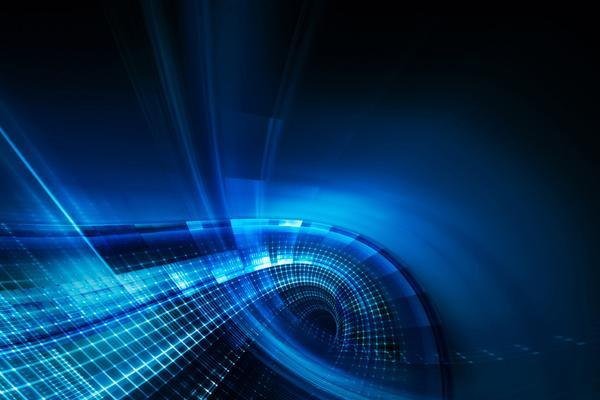 蓝色虚幻空间PPT背景图片