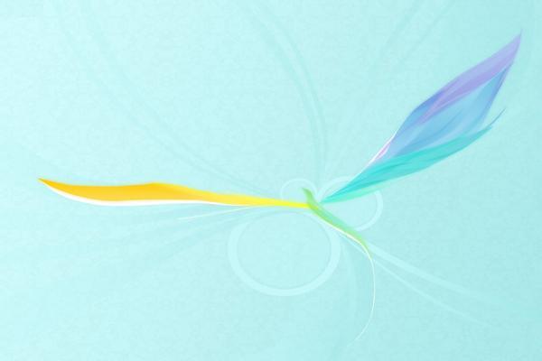 彩色凤凰艺术设计PPT背景图片