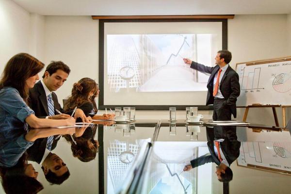国外职场会议PPT背景图片