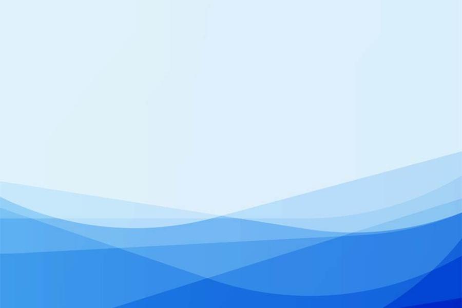 蓝色清爽简洁曲线PPT背景图片