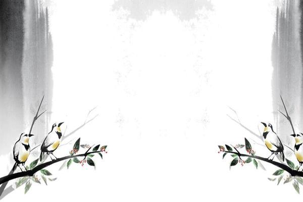 9张水墨古风PPT背景图片
