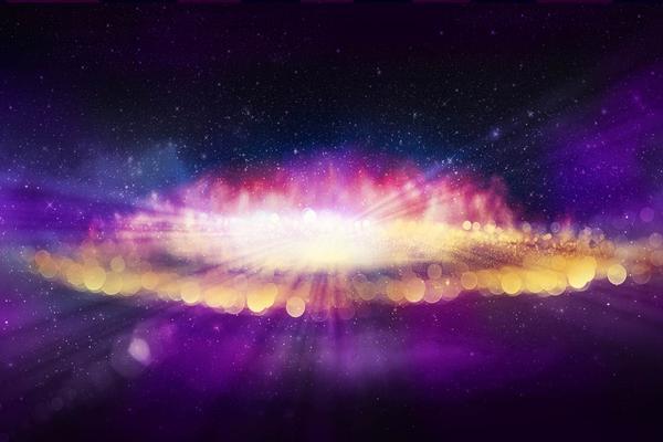 紫色炫酷星爆PPT背景图片