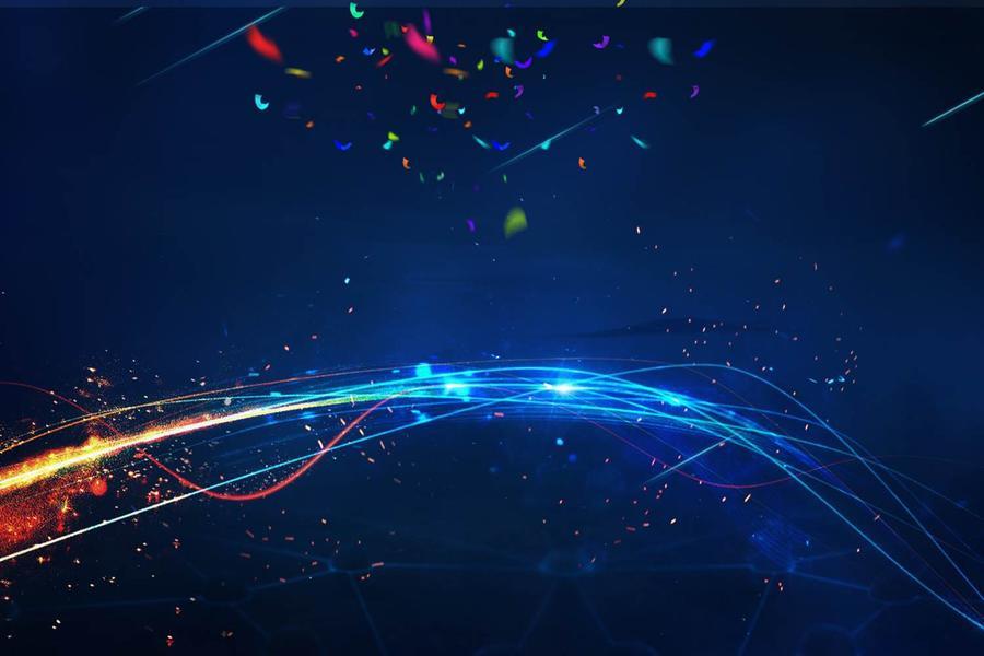 抽象光线线条PPT背景图片