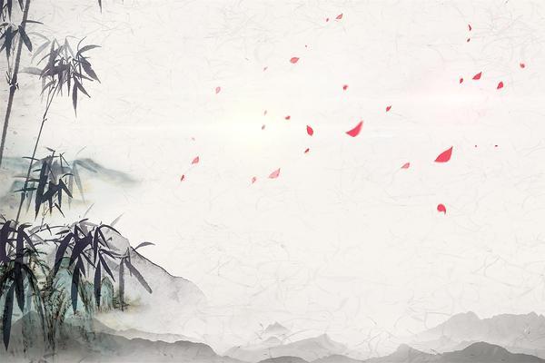 七张古典水墨梅花竹子中国风PPT背景图片