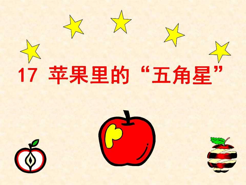 《苹果里的五角星》PPT课件