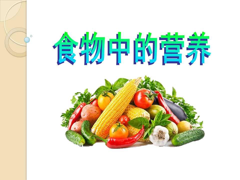 《食物的营养》食物PPT课件