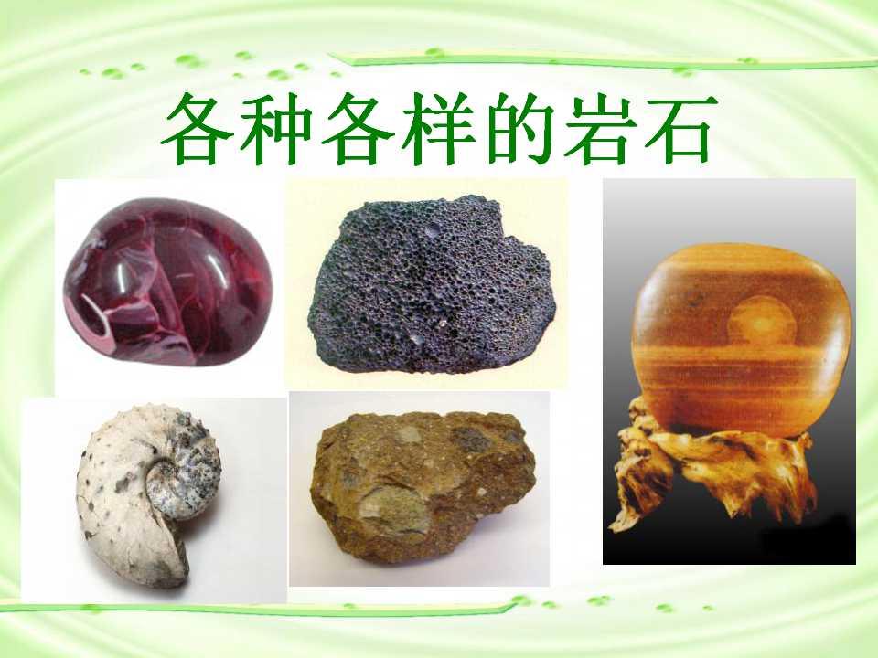 《各种各样的岩石》岩石和矿物PPT课件