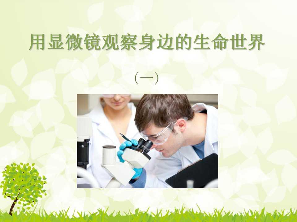 《用显微镜观察身边的生命世界(一)》微小世界PPT课件3