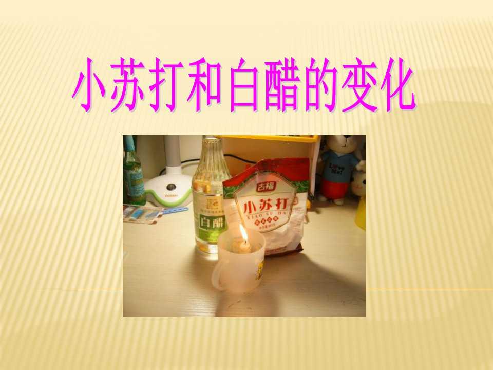 《小苏打和白醋的变化》物质的变化PPT课件3