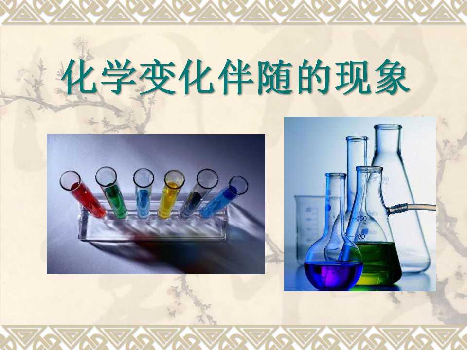《化学变化伴随现象》物质的变化PPT课件
