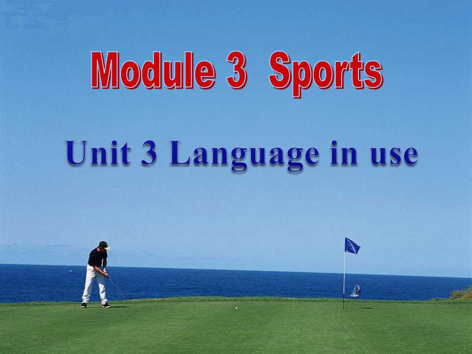 《Language in use》Sports PPT课件2
