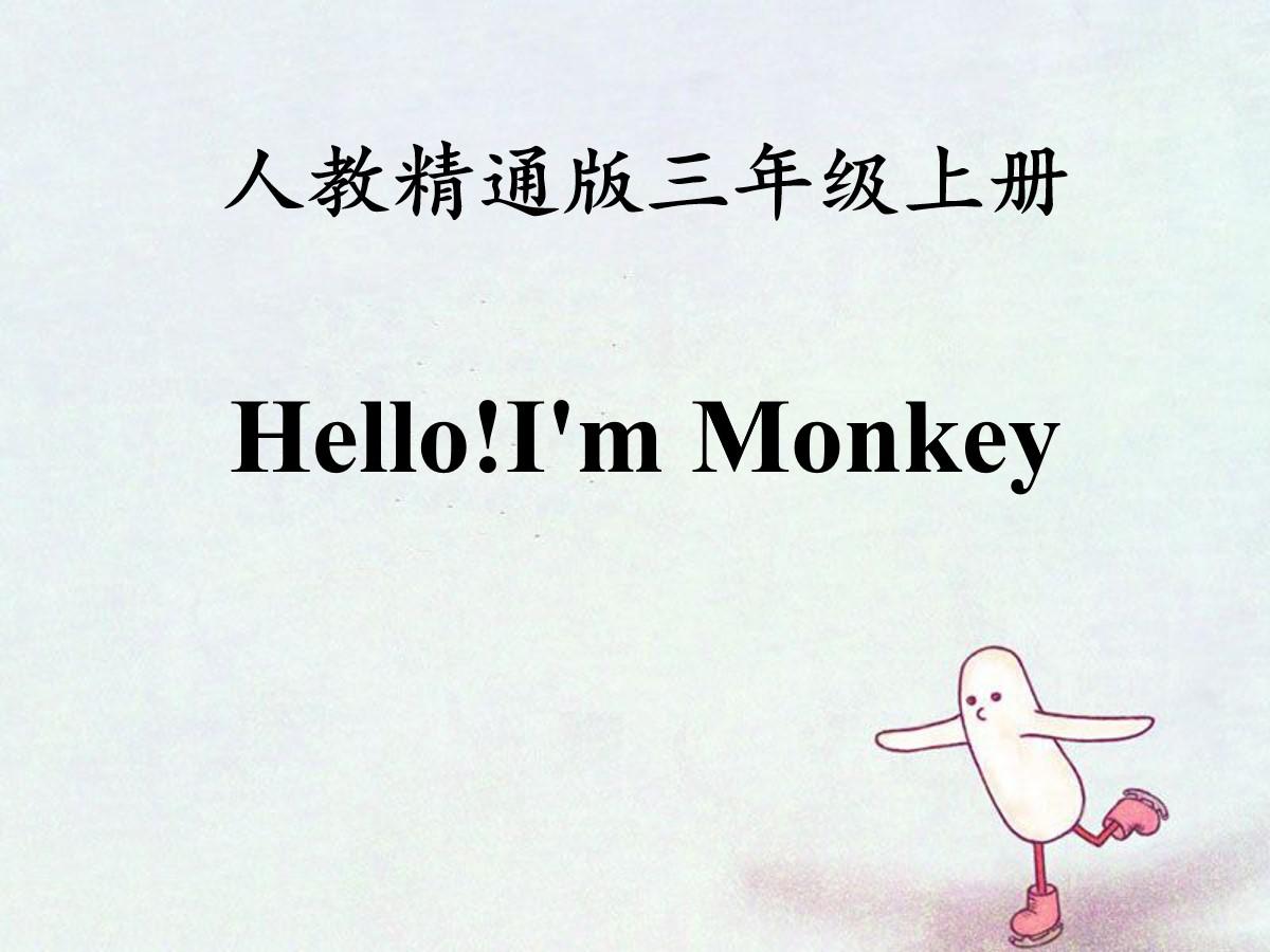 《Hello!I'm Monkey》PPT课件3