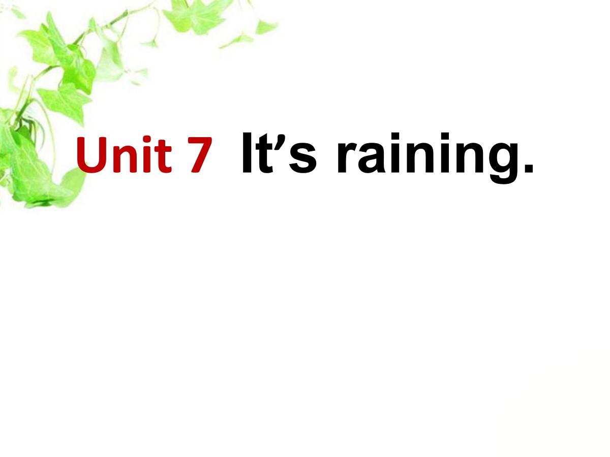 《It's raining》PPT课件9