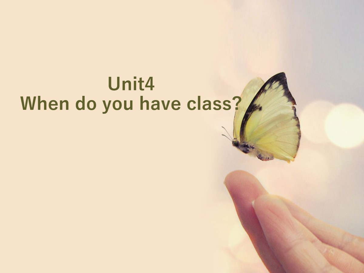 《When do you have class?》PPT课件