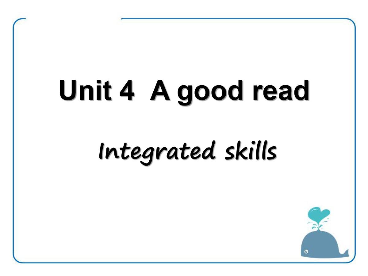 《A good read》Integrated skillsPPT