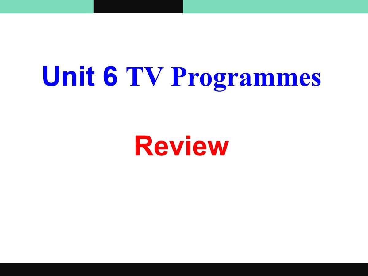 《TV programmes》ReviewPPT
