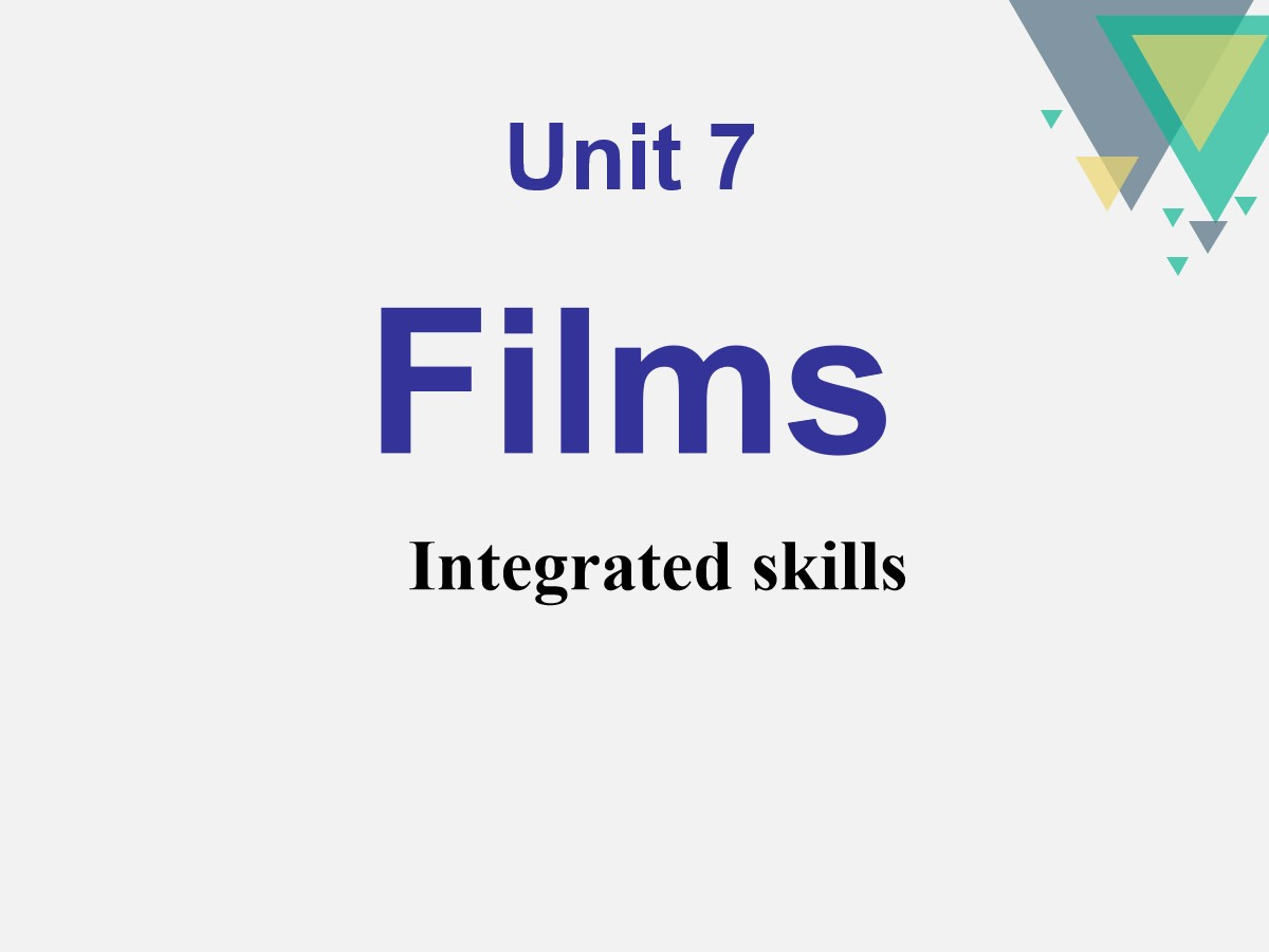 《Films》Integrated skillsPPT课件
