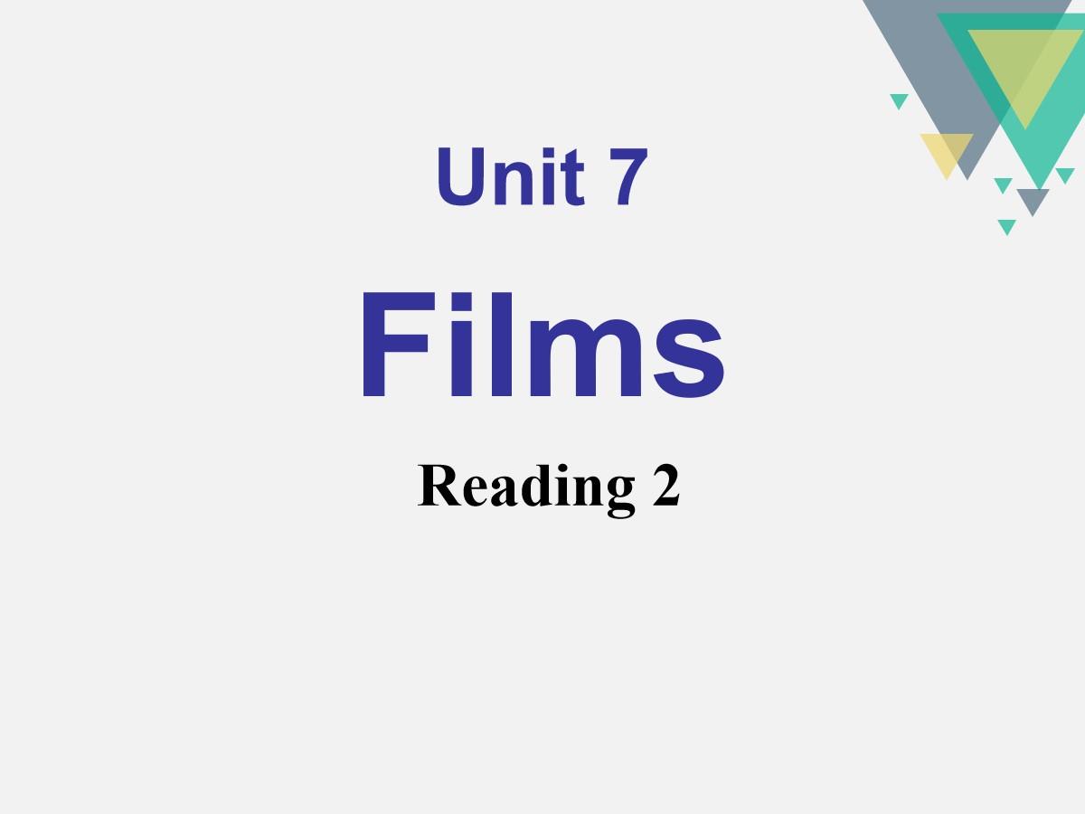《Films》ReadingPPT课件
