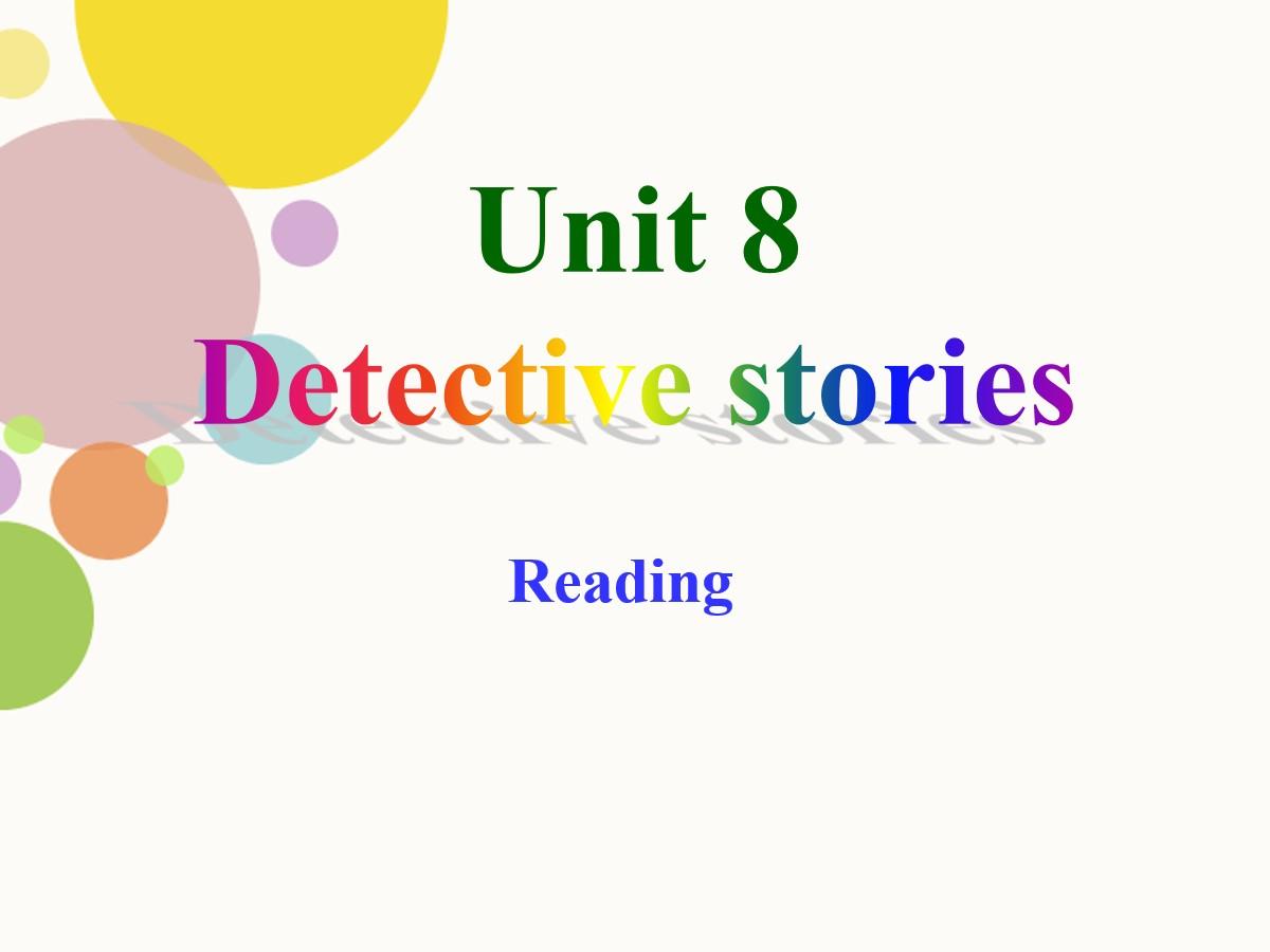 《Detective stories》ReadingPPT