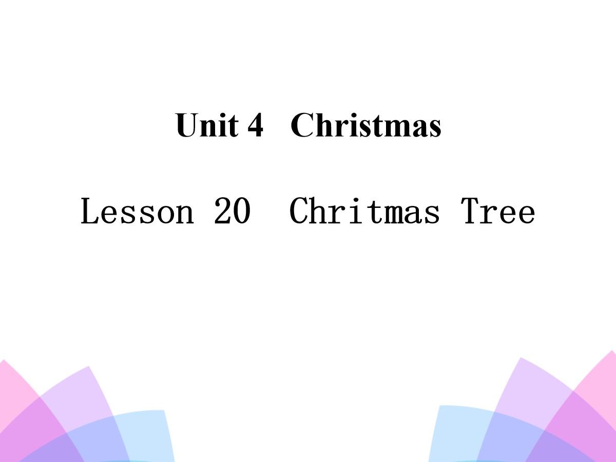 《Chritmas Tree》Christmas PPT