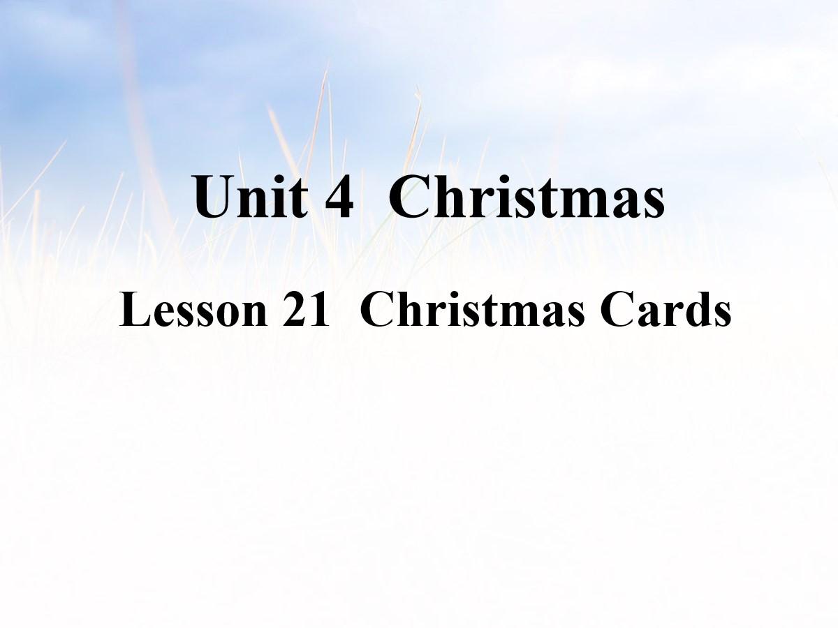 《Christmas Cards》Christmas PPT课件