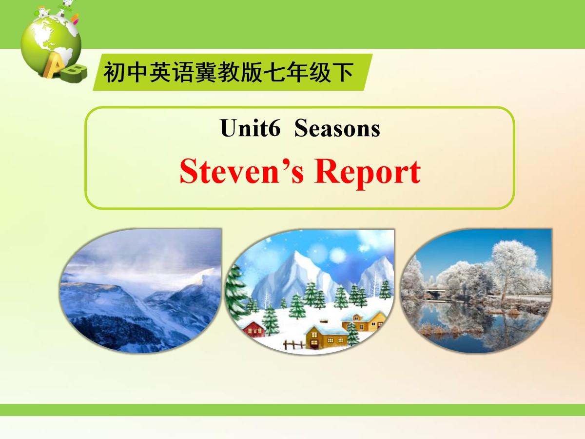 《Steven's Report》Seasons PPT