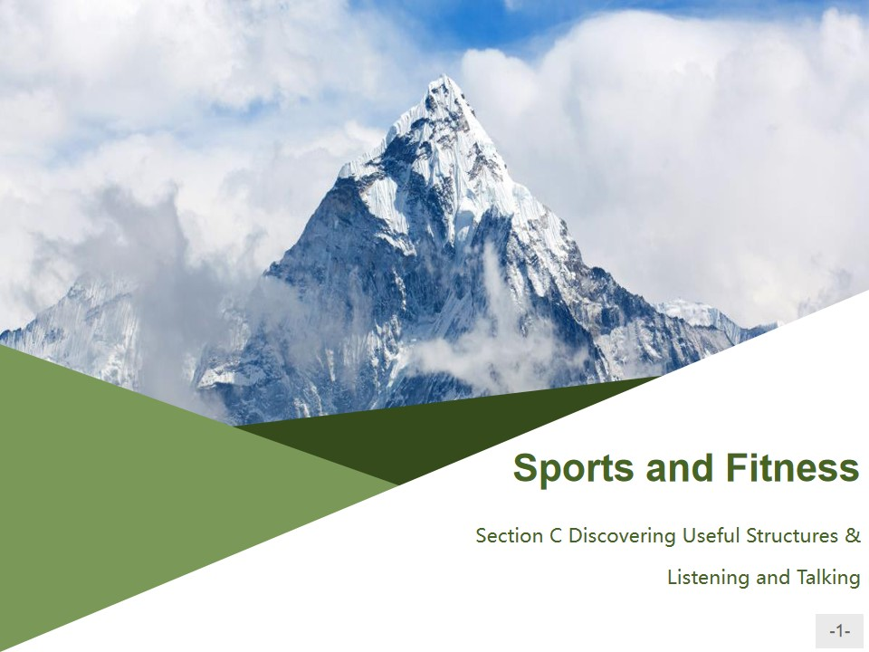 《Sports and Fitness》Discovering Useful Structures & Listening and Talking PPT