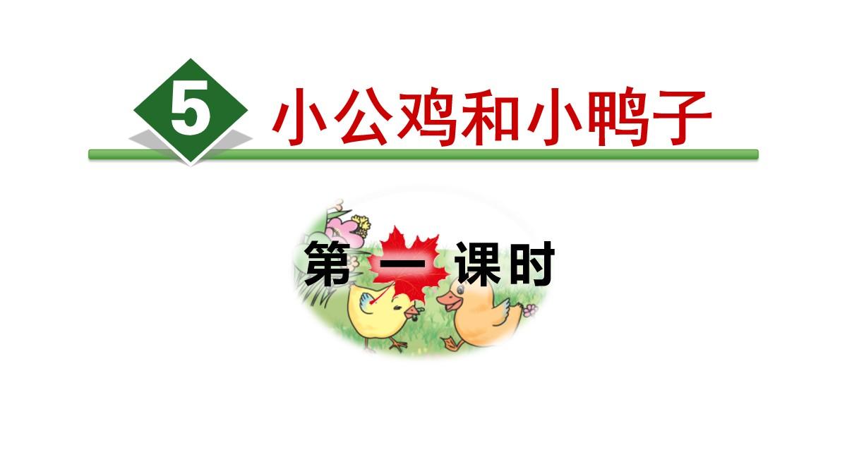 《小公鸡和小鸭子》PPT(第一课时)