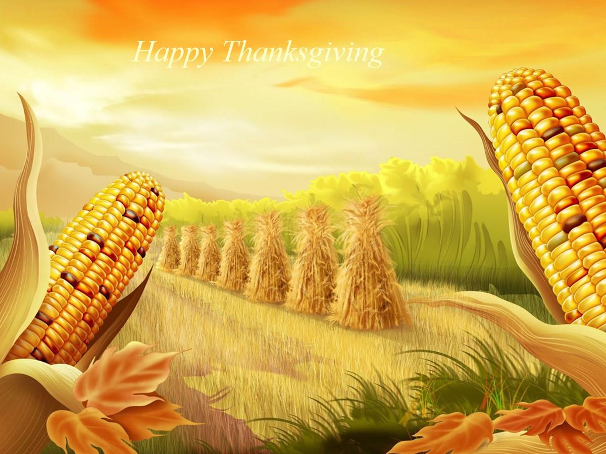 秋天主题玉米丰收了PPT幻灯片模板