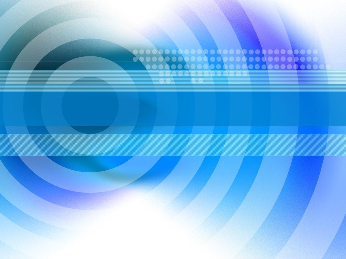 蓝色圆环背景科技PPT模板 蓝色动态PPT模板
