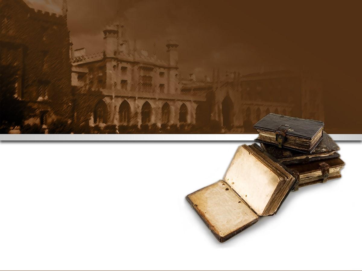 棕色古典风格 书籍背景PPT模板