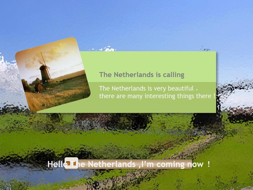 荷兰国家旅游文化介绍英文PPT模板