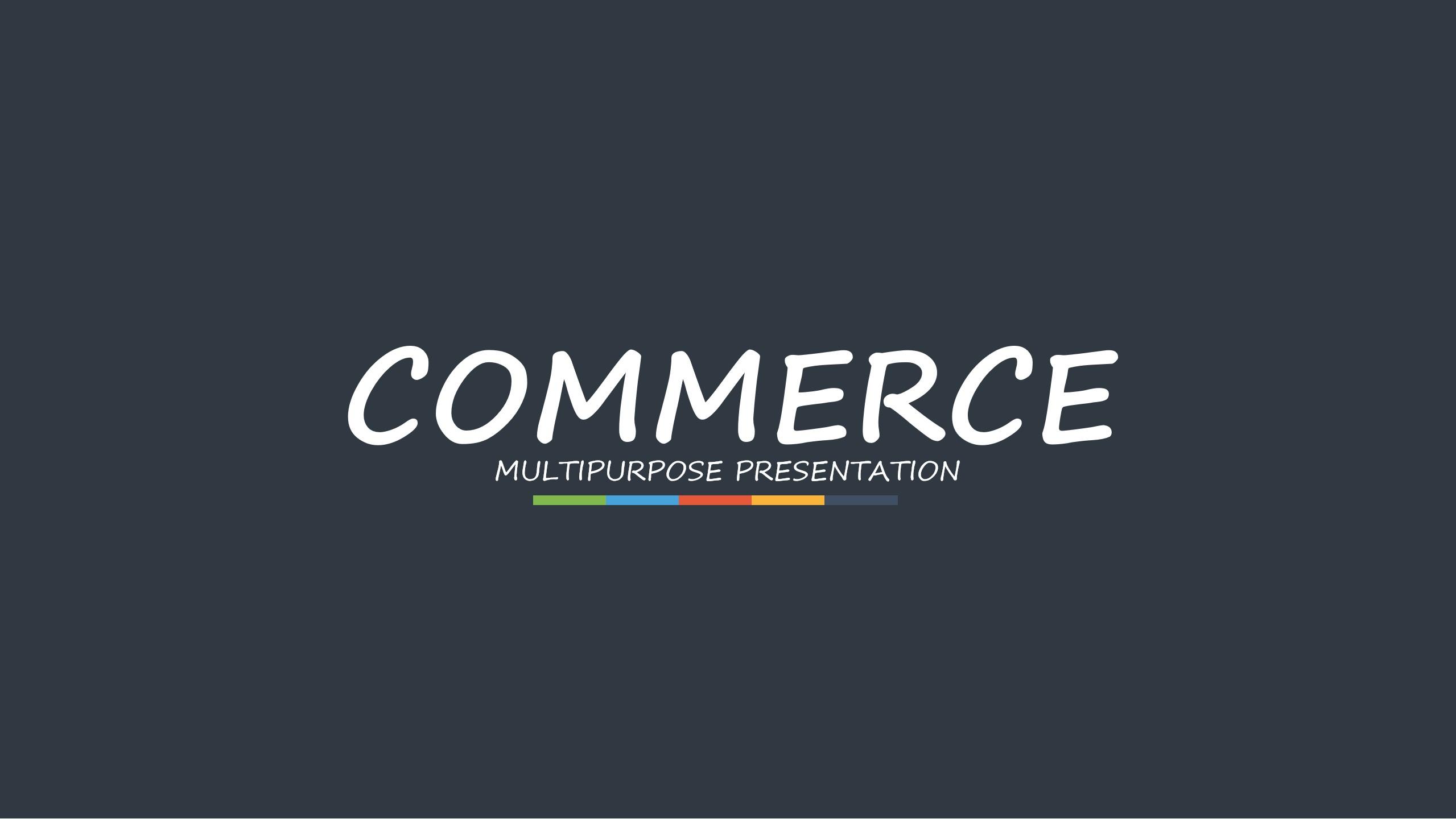 多彩扁平化国外互联网科技公司与产品介绍PPT模板