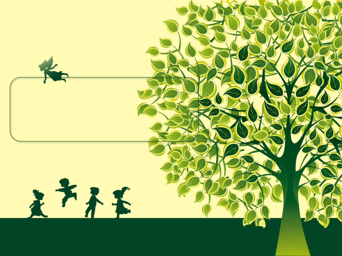 大树下的童年艺术PPT模板