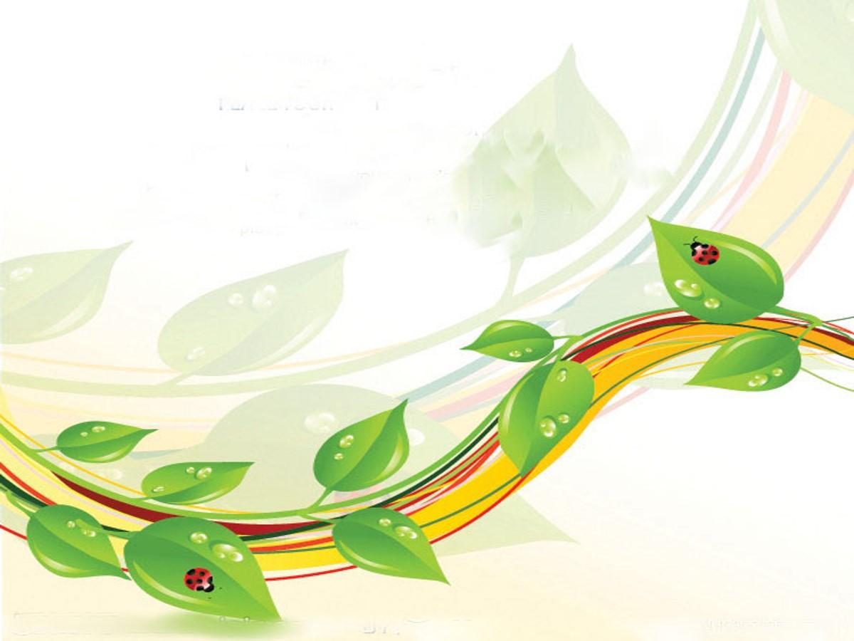 卡通藤蔓枝叶背景通用PPT模板
