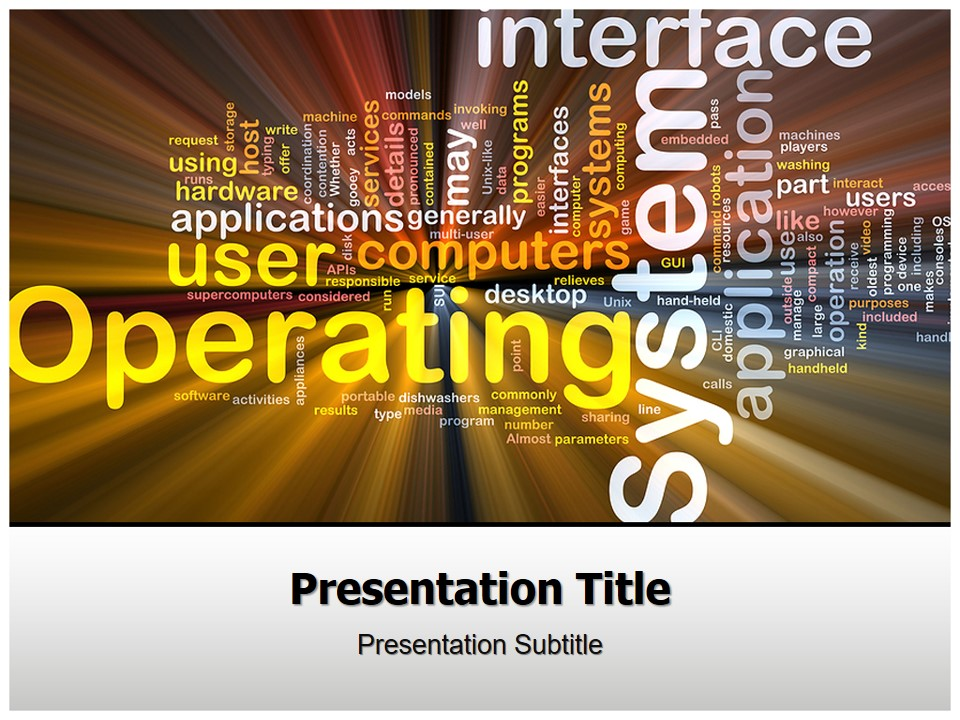 彩色文字排版艺术PPT模板