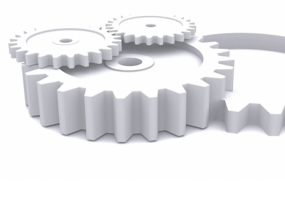 立体齿轮PPT模板