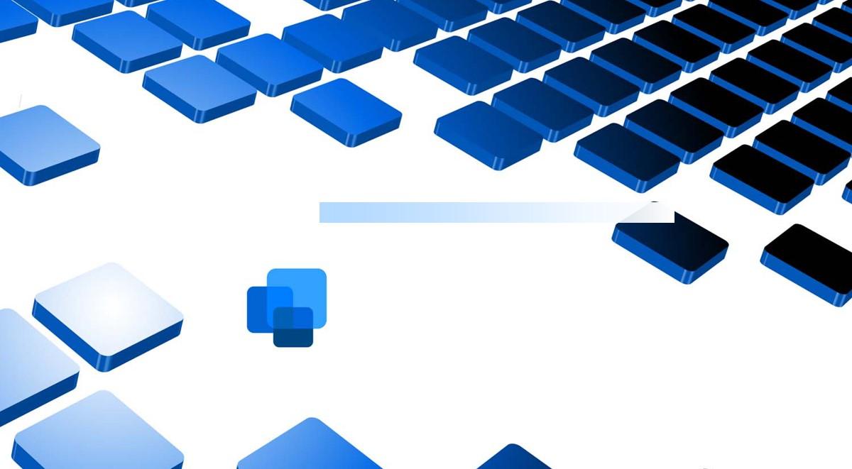 蓝色方块背景科技幻灯片背景图片