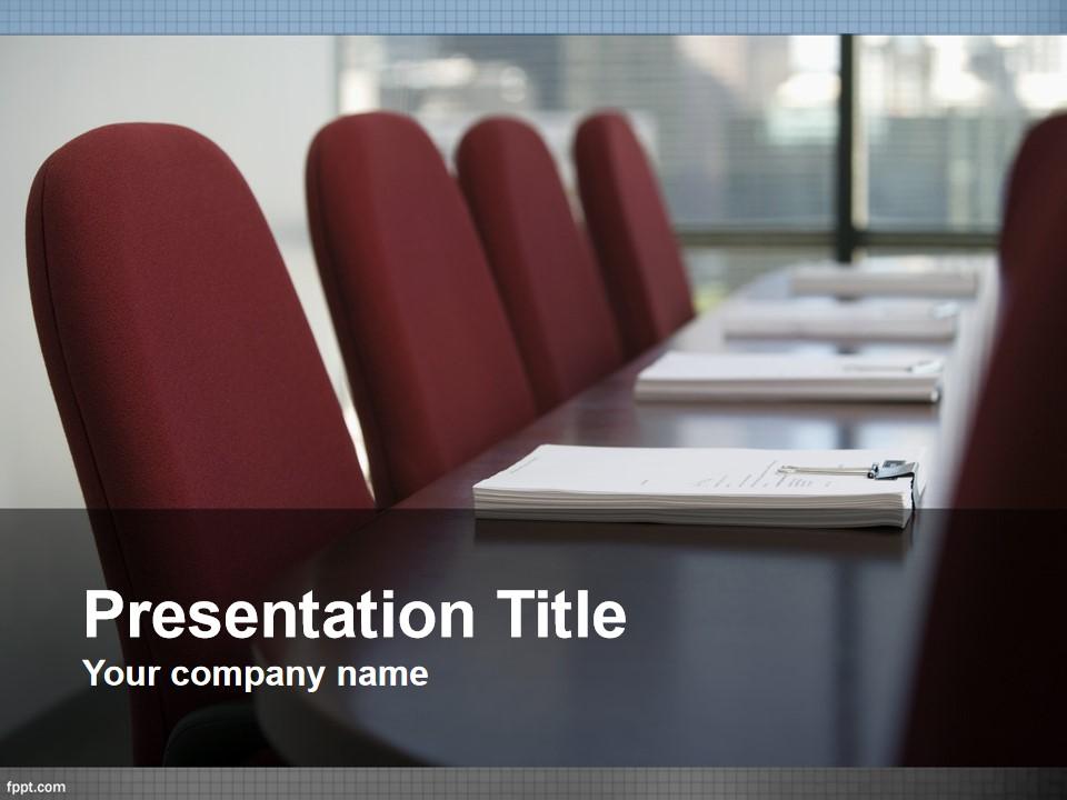 会议室商务PPT模板