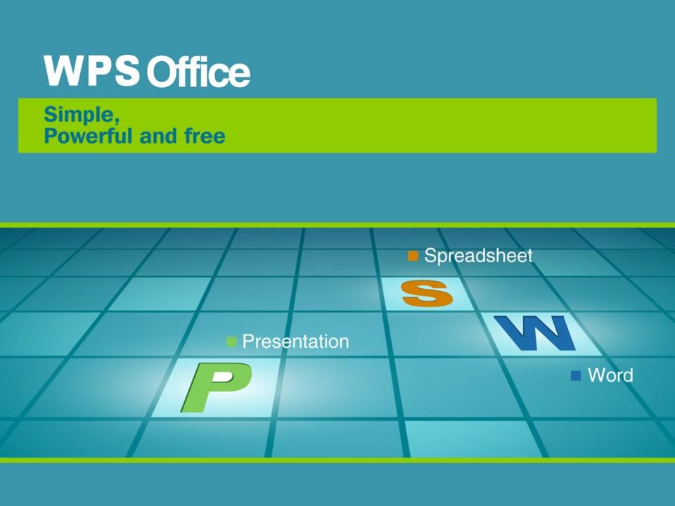 WPS office简洁商务PPT模板