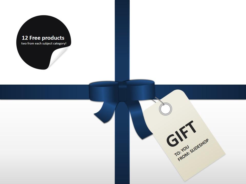 GIFT礼结礼物包装盒商务PPT模板