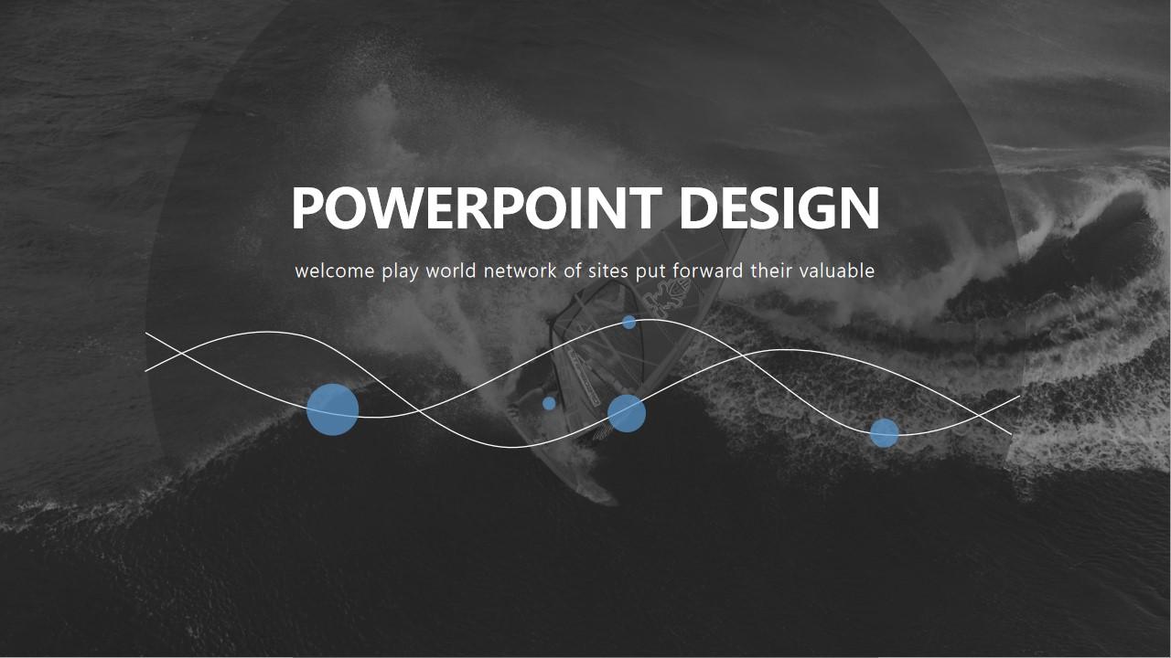 线条与圆精美设计扁平化大气排版欧美商务风PPT模板