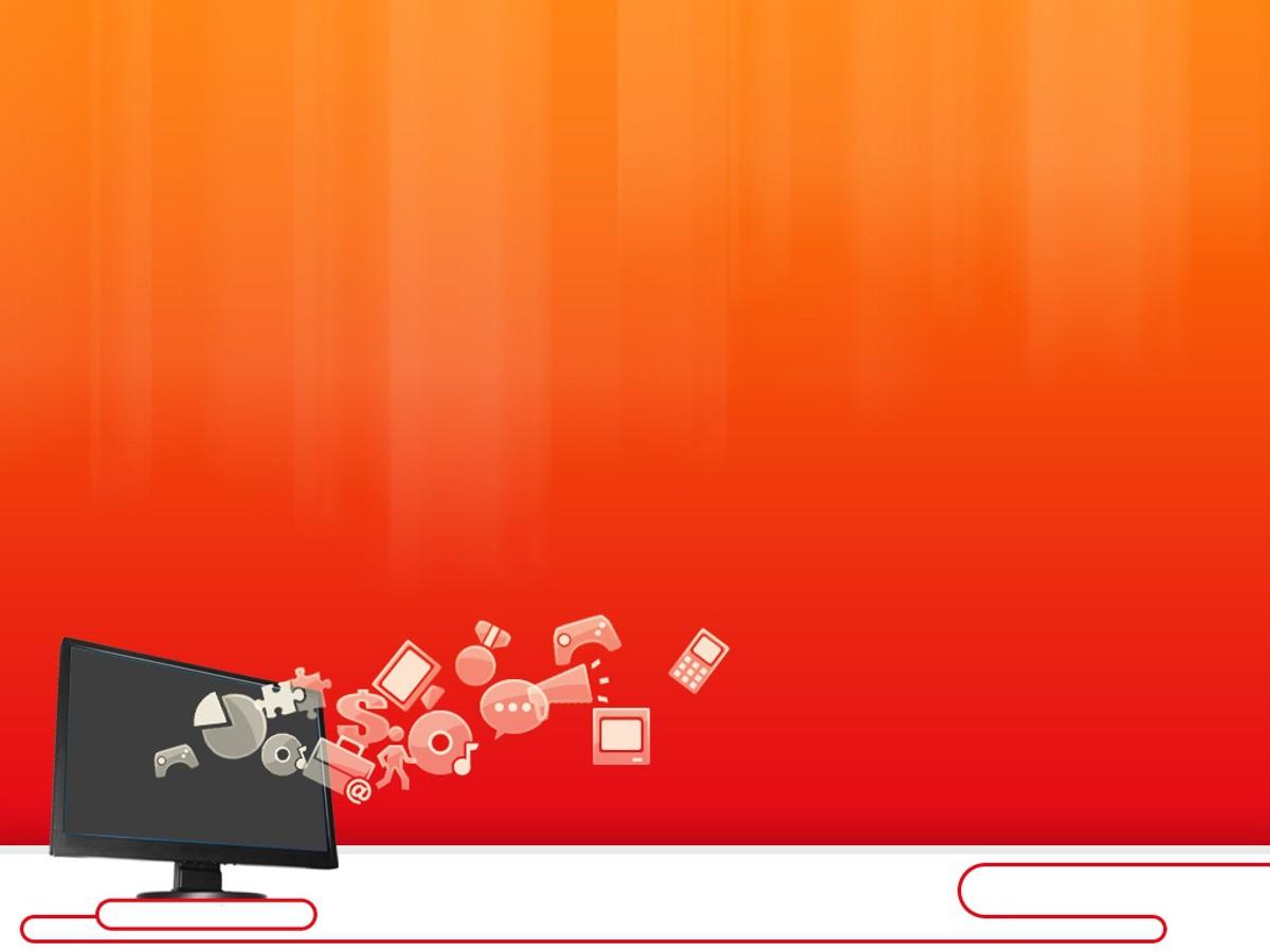 橙色渐变背景PPT 商务科技PPT模板