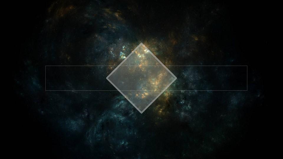 半透明IOS蓝色星空背景科技PPT模板