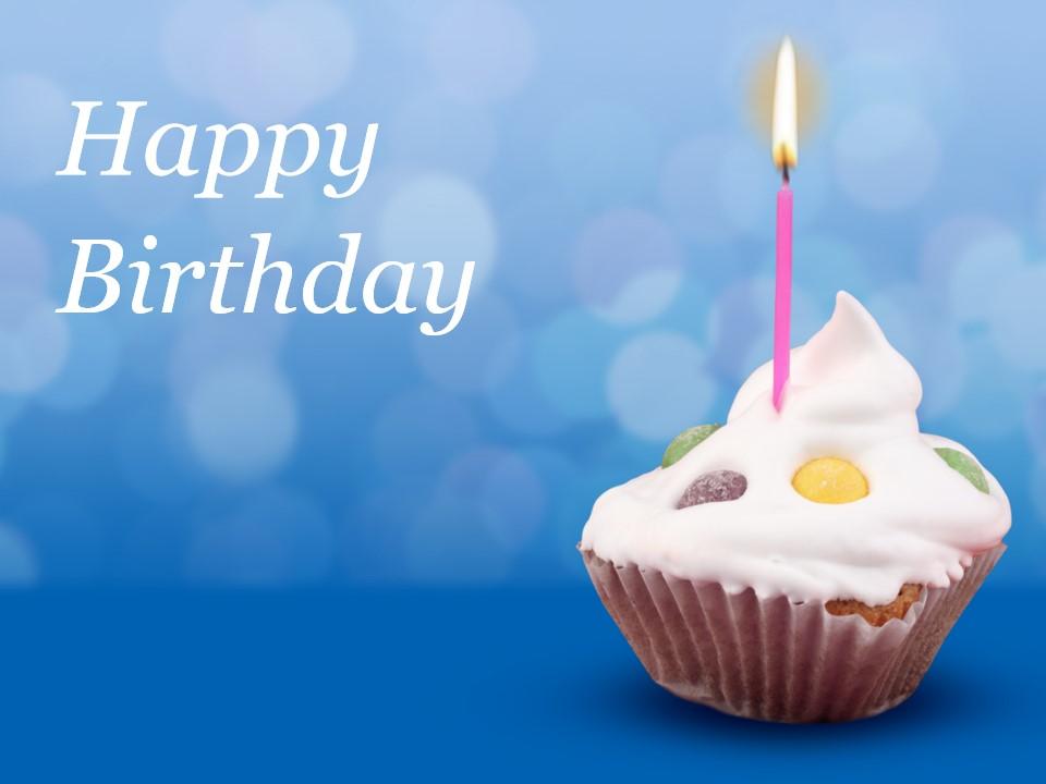 happy birthday 生日蛋糕PPT模板