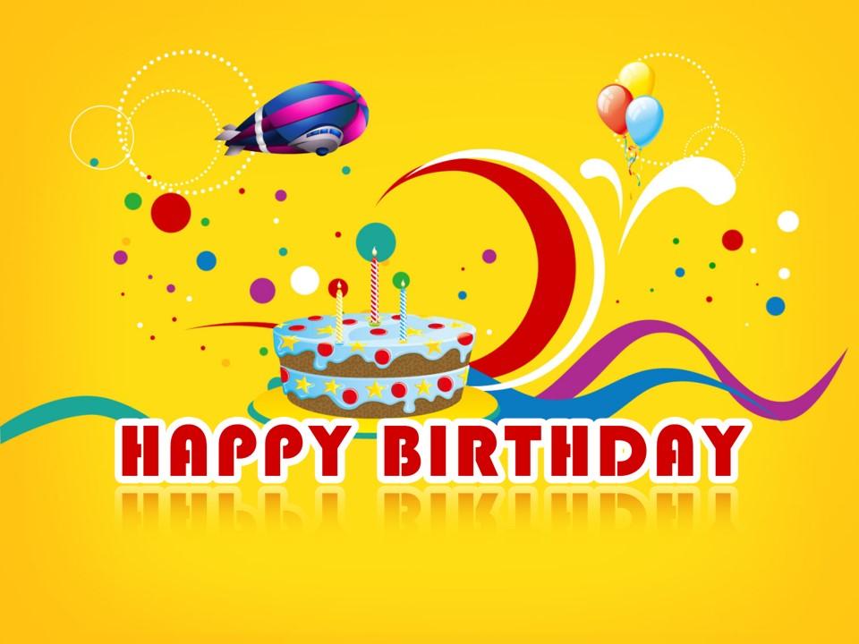 开心喜庆活力色彩生日庆祝birthday卡通PPT模板